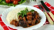 Фото рецепта Свинина с черносливом в мультиварке
