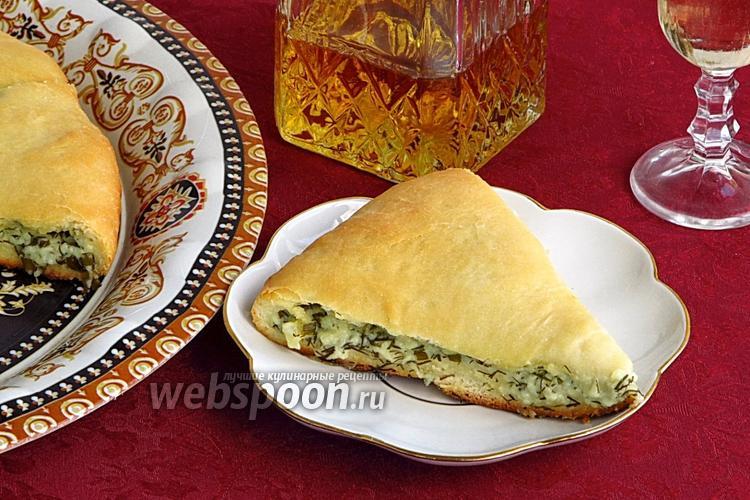 Фото Осетинский пирог с сыром и зеленью