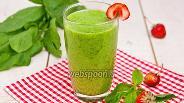 Фото рецепта Зелёный коктейль со шпинатом и ананасом