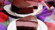 Фото рецепта Торт-мусс «Вишня в шоколаде»