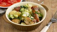 Фото рецепта Тёплый салат из молодого картофеля
