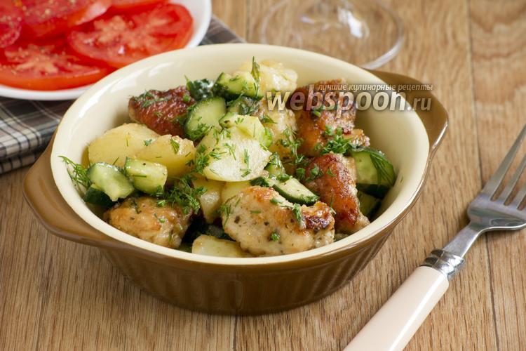 Фото Тёплый салат из молодого картофеля