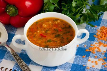 Томатный суп с чечевицей