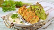 Фото рецепта Оладьи с кабачками и творогом