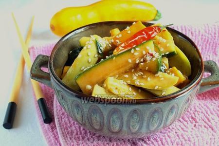 Салат из кабачков по-азиатски