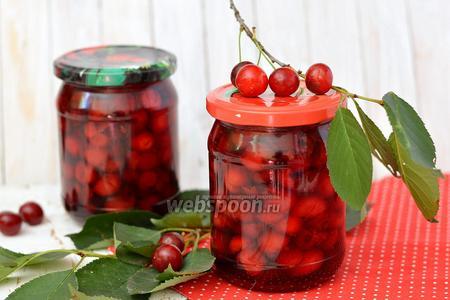 Заготовка вишни в собственном соку