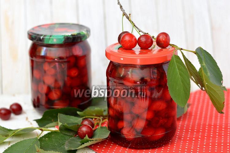 Фото Заготовка вишни в собственном соку