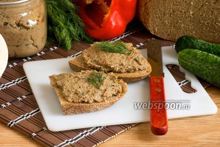 Фото рецепта Паштет печёночный с овощами
