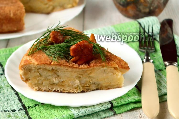 Фото Сырно-картофельный пирог в мультиварке