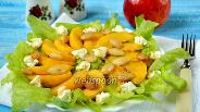 Фото рецепта Салат с нектаринами и миндалём