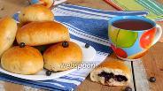 Фото рецепта Пирожки с черникой печёные
