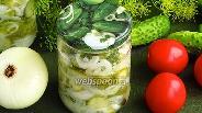 Фото рецепта Заготовка салата из огурцов на зиму