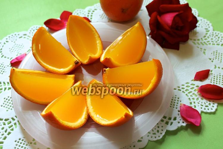 Фото Желе «Апельсиновые дольки»