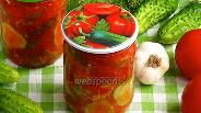 Фото рецепта Салат из огурцов в томатно-чесночной заливке