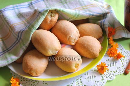 Фото рецепта Пирожки скорые с творогом печёные