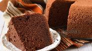 Фото рецепта Шоколадный шифоновый бисквит в мультиварке