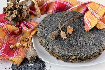 Маково-ореховый бисквит в мультиварке