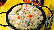 Фото рецепта Паэлья с курицей и креветками
