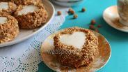 Фото рецепта Бисквитные пирожные с орехами