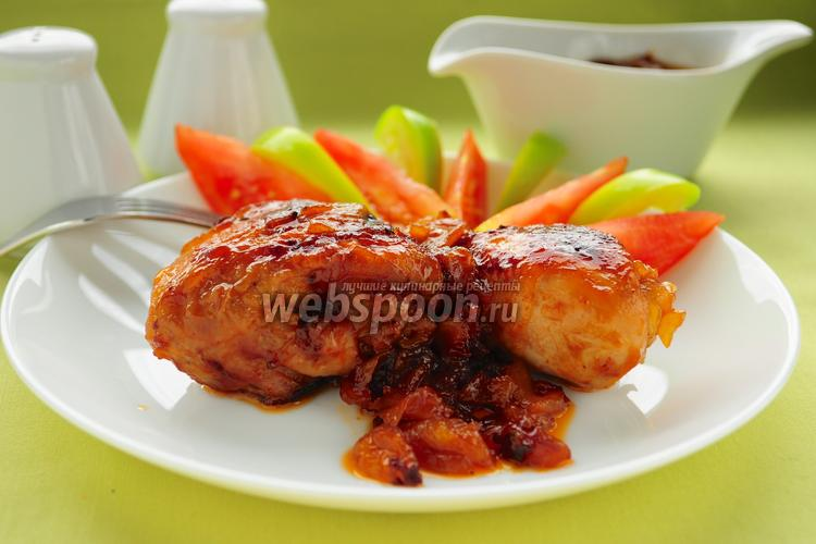 Фото Курица в яблочной глазури в мультиварке