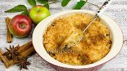 Фото рецепта Яблочный десерт с кокосовой корочкой