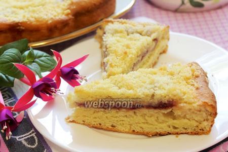 Немецкий пирог с земляникой