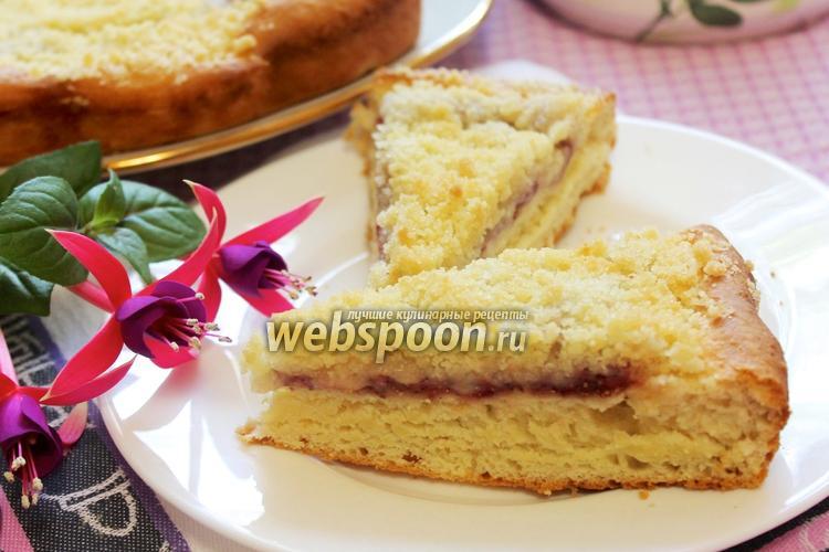 Фото Немецкий пирог с земляникой