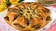 Фото рецепта Плетёный пирог с маком и яблоками