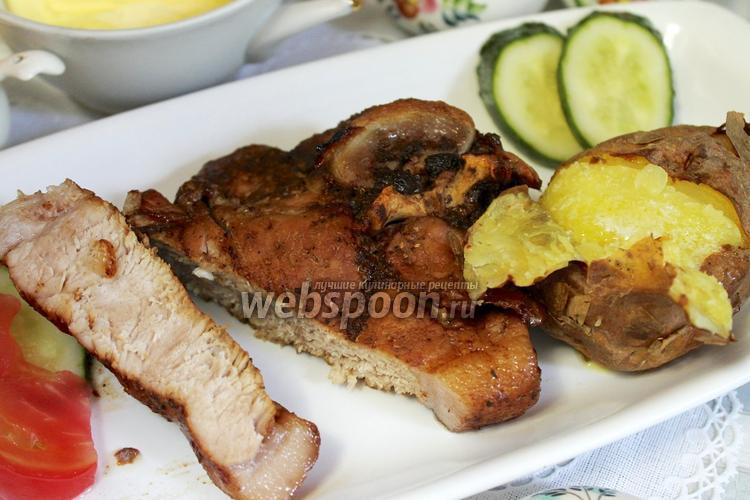 Рецепт Антрекот из свинины в соусе ткемали