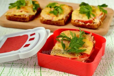 Горячие бутерброды с ржаным хлебом