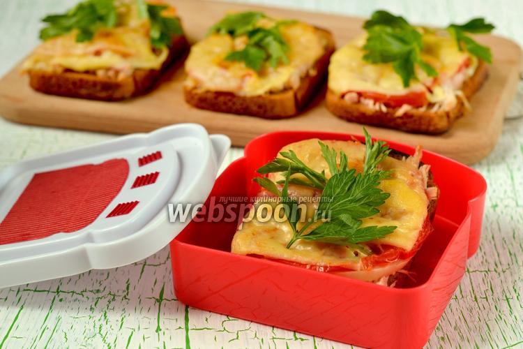 Фото Горячие бутерброды с ржаным хлебом