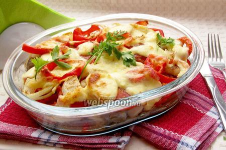 Фрикадельки с овощами в духовке