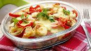 Фото рецепта Фрикадельки с овощами в духовке