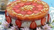 Фото рецепта Творожный торт с ревенем