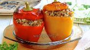 Фото рецепта Печёные фаршированные перцы