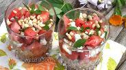 Фото рецепта Греческий салат с арбузом и фетой