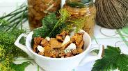 Фото рецепта Лисички солёные горячим способом