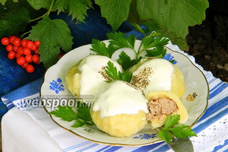 Рецепт Картофельные галушки с мясом