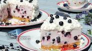 Фото рецепта Черничный творожный торт