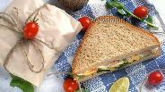 Фото рецепта Сэндвич с креветками и кабачками