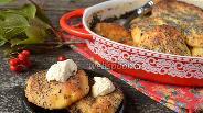 Фото рецепта Сырники из  духовки в сметанно-маковой заливке