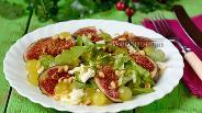 Фото рецепта Салат с инжиром и моцареллой