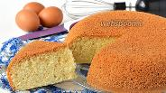 Фото рецепта Ванильный бисквит на кипятке в мультиварке