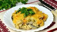 Фото рецепта Гратен из цветной капусты с курицей и шампиньонами