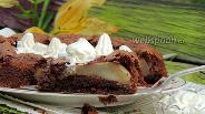 Фото рецепта Шоколадно-ореховый пирог без муки