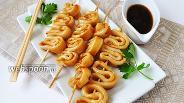 Фото рецепта Кальмары в соусе терияки
