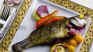 Фото рецепта Сибас запечённый в фольге