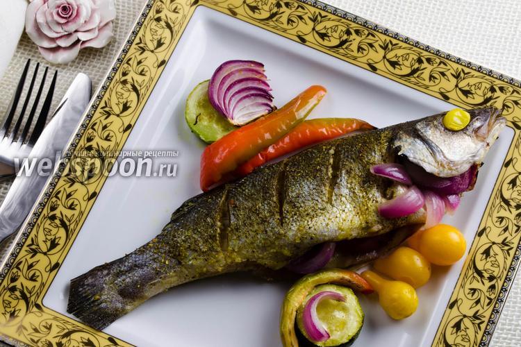 сибас в фольге рецепт в духовке с фото