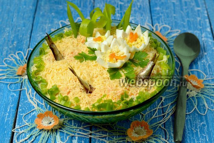 салат рыбка в пруду рецепт