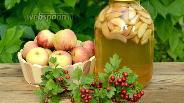 Фото рецепта Компот ассорти из яблок, нектаринов и слив